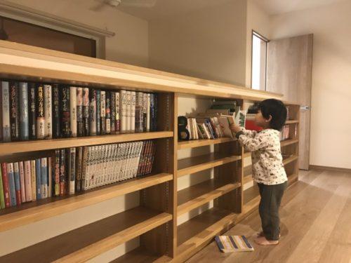 造り付け本棚