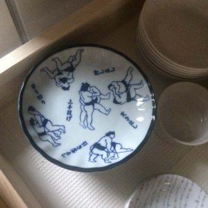 相撲柄 小皿